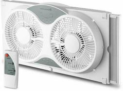 Comfort Zone CZ310R  Twin Window Cooling Fan With Remote Con