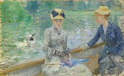 Oil Painting 'Berthe Morisot Summer's Day ' Printing On Perf